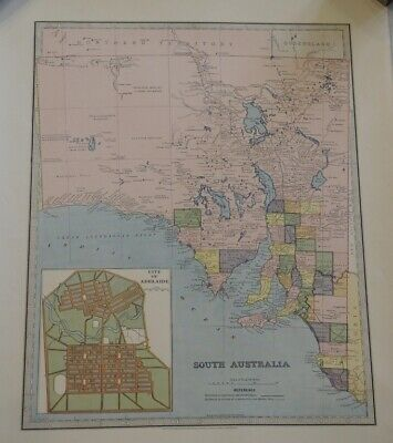 Map Of South Australia 1888 The Picturesque Atlas Publishing Company