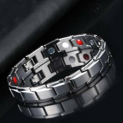Unisex Therapeutic Energy Healing Bracelet Stainless Steel Therapy Bracelet