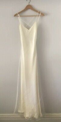 Jenny Bannister White Gown Size 12 Beaded Accents