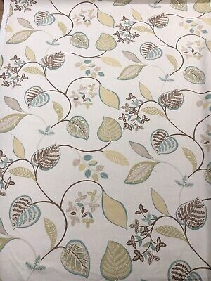 "HARLEQUIN CURTAIN FABRIC DESIGN /""Etienne/"" 3.45 METRES LIME COFFEE /& NEUTRAL"