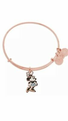 Disney Parks Alex And Ani Classic Minnie Mouse Rose Gold Charm Bracelet NEW