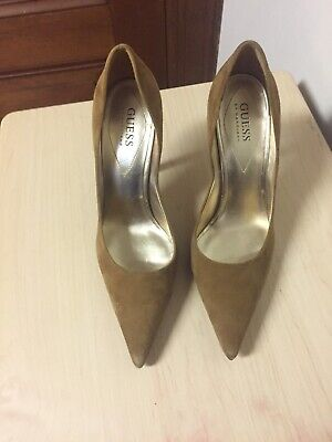 Guess brown suede shoes size 8.5