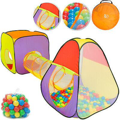 Kids Ball Pit Play Tent House Playtent Toy Tunnel Children Pop Up Playhouse New