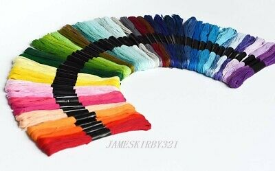 50 Colors 8M Stitch Cotton Embroidery Thread Floss/Skeins  UK