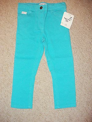 Girls Aqua Blue Green Skinny Leg Jeans In Age 2-3 Years From Sugar Pink Bnwt