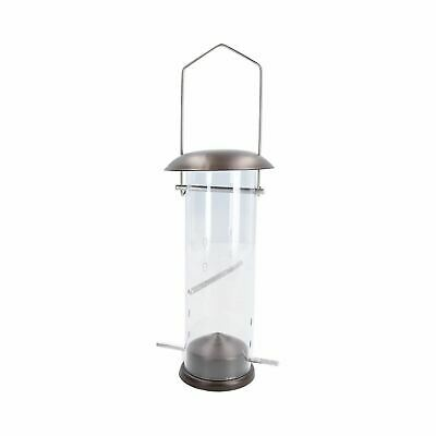 Small Deluxe Bird Feeder Nyjer Seed Holder Hanging Feeding Station Wild Birds