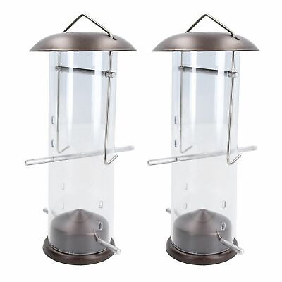 2PK Small Deluxe Bird Feeder Nyjer Seed Holder Hanging Feed Station Wild Birds