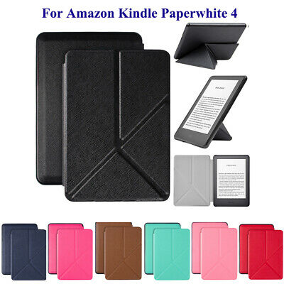 For Amazon Kindle Paperwhite 4 10th Gen 2018 Folding PU Leather Case Smart Cover