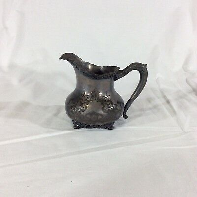 Antique Victorian Homan Silverplate Creamer Circa 1890s