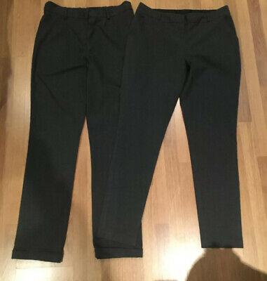2 Pairs Girls Grey School Trousers. Age 13-14 Years Tu George