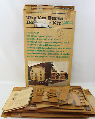 Vintage Greenleaf Huge Van Buren Dollhouse Kit Victorian Mansion
