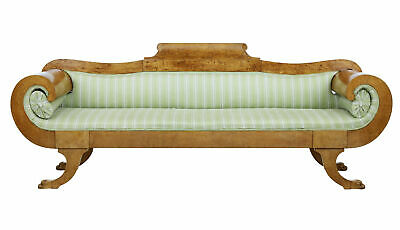 Mid 19Th Century Burr Birch Swedish Sofa