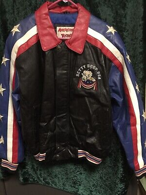 Authentic BettyWear Betty Boop Leather Jacket made by American Toons By Excelled