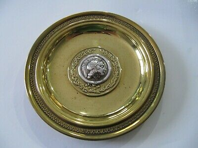 """Greek Vintage Sterling Silver 925 Alexander The Great Coin  Bowl Plate 4"""""""