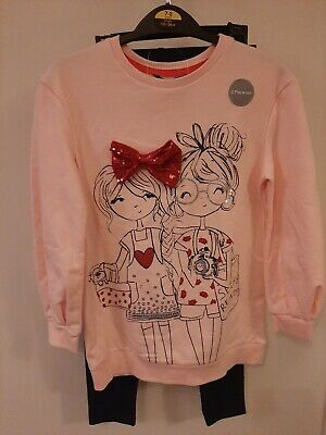 Two Piece Girls Top & Leggings BNWT Size 7-8 Years