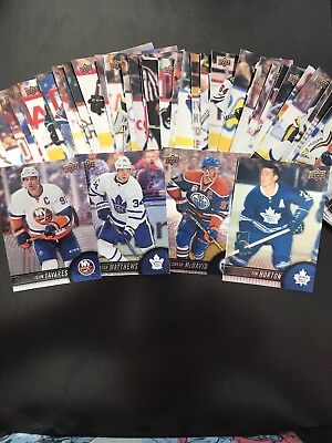 2017-18 UD Tim Horton's Hockey Cards - Complete your set - Base/GDA/PP
