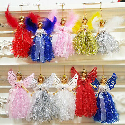 Christmas Wings Elf Angel Doll Toy Xmas Tree Hanging Ornament Party Home Decor