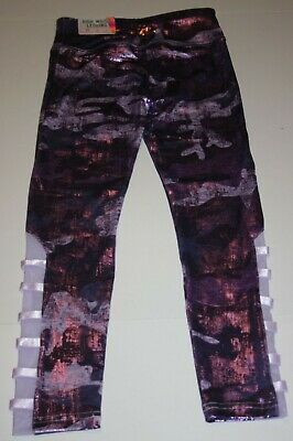 New Justice Girls 14 16 yr Metallic Purple Camo  Athletic Leggings Active