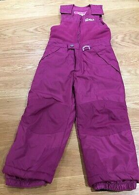 🎿 Weatherproof Girls Salapettes / Ski Trousers, Age 5 Excellent Condition 🎿