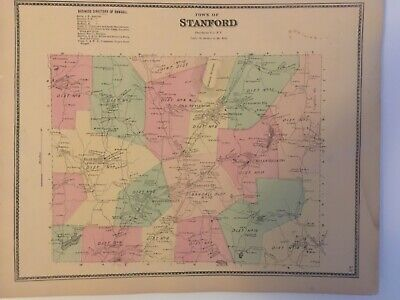Town of Stanford, Dutchess County, NY 1867 Lithograph by F.W. Beers