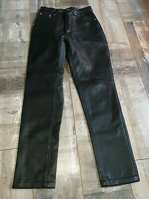 Stunning Vintage Retro 80s-90s PVC Leather Look Trousers Size 10 by MO BNWOT