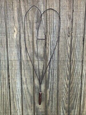 Antique Large Heart Shaped Rug Beater W/ Offset Wooden Handle Farm House Vintage