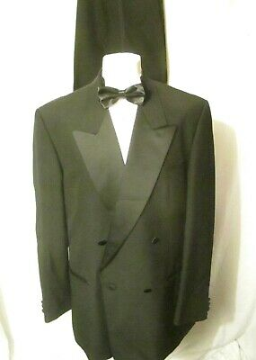 "Chatsworth Men's Black Dinnner Suit Wool Blend Chest 44"" Waist 36"" Leg 32"""