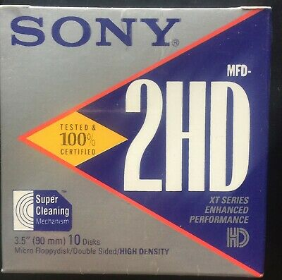 "Sony MFD-2HD 3.5"" DS/HD Floppy Disk Diskette Formats to IBM/Apple 1.44MB"