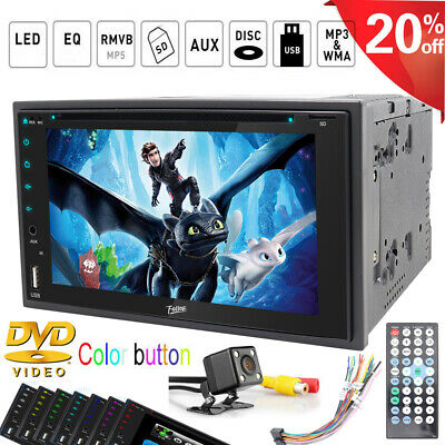 """For Sony Lens Double 2Din In Dash 6.2""""Car Stereo Radio DVD Player  BT TV MP3 Mic"""