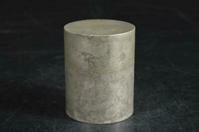 A1776: Japanese Old Tin TEA CADDY Chaire Container Tea Ceremony