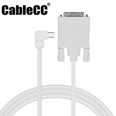Mini DP DisplayPort Source to DVI Sink Monitor Cable Left Angled Type 90 Degree