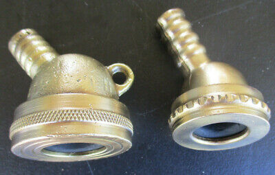 ANTIQUE BRASS GARDEN HOSE FITTINGS X 2 together