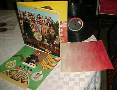 "The Beatles ""Sgt Pepper's Lonely Hearts Club Band"" LP Capitol 1967 Stereo W/Inst"