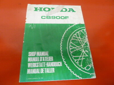 Honda CB 900 FA suplement Original Genuine Parts List Book werkstatt handbuch