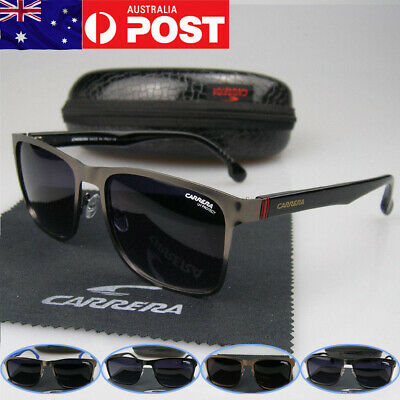 CARRERA Glasses Unisex Men Women Fashion Sunglasses Square Matte Metal Frame