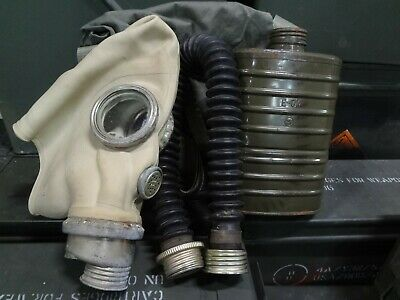Military Gas Mask W Filter Bag Soviet Russian Army GI Zombie Survival Virus Flu