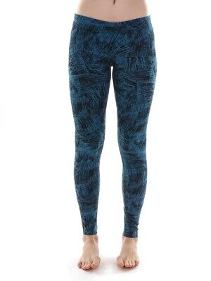 O`Neill Leggings Sport Pants Slacks Black Allover Print Stretch
