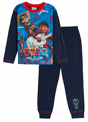 Disney Coco Pyjamas Boys Kids Character Full Length Pjs Nightwear Gift Size