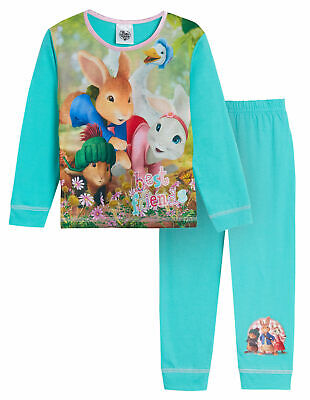 Kids Peter Rabbit Pyjamas Lily Bobtail Boys Girls Full Length Pjs Gift Nightwear