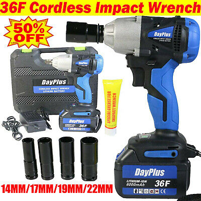 Electric Impact Wrench 460Nm Ratchet Nut Gun Heavy Duty Cordless Wheel Removal