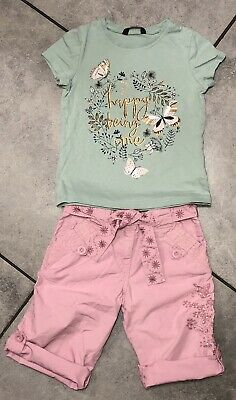 George...Matalan Girls Outfit 4-5 Y Butterfly Print