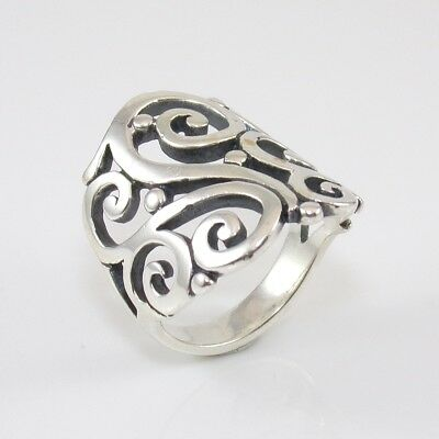 James Avery Sterling Silver Open Sorrento Ring Size 5 SFH