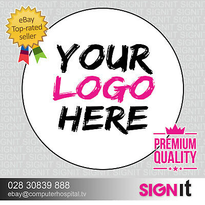 LOGO Printed Round Stickers - Custom Logo labels - postage labels -Personalised