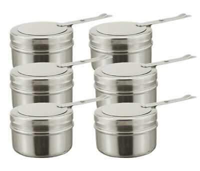 6x Spare Chafing Fuel Holders For Chafers 18/8 Stainless Steel 9cm x 6.5cm