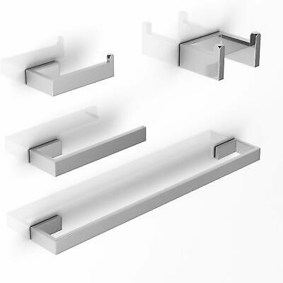 Brushed Nickel SUS 304 Bathroom Accessories Set Paper Holder Towel Bar of 4PC US