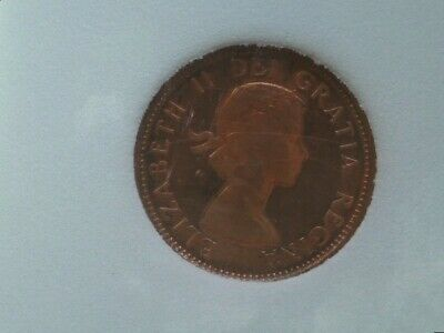 1959 Canada Small Cent Penny Uncirculated Red Proof Like