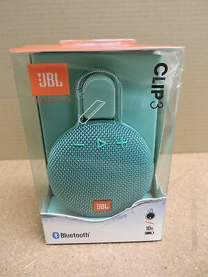 JBL Clip 3 Portable Bluetooth Waterproof Speaker (Teal)