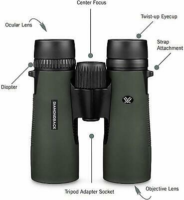 NEW Vortex Diamondback 10x42 Roof Prism Binoculars - Waterproof - 10x FREE SHIP