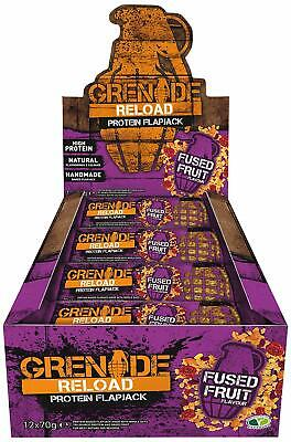 Grenade Reload Protein Flapjacks, 12 x 70 g Bars Hihg Protein Recovery Endurance