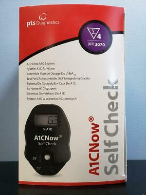 PTS Diagnostics A1CNow Self Check + 4 Tests - At Home A1C System - NEW Exp 11/20